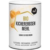 nu3 Harina de Garbanzo Orgánica – 400 gramos – 100% ecológica & libre de gluten – Rica fuente de proteínas y fibra vegetal – Alternativa con menos carbohidratos que el almidón o la fécula molida