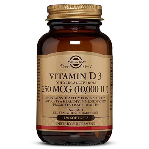 Solgar, Natural Vitamin D3, 10,000 IU, 120 Softgels