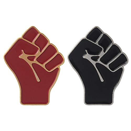 MYA 1Pc Brosche Kreative Raised Fi Emaille Brosche Aeichen Begeierte Fau-Symbol der Solidarität Einheit Revers Pin-Knopf-Schmusachen für Jae Rusa Tasche Hat Hoch