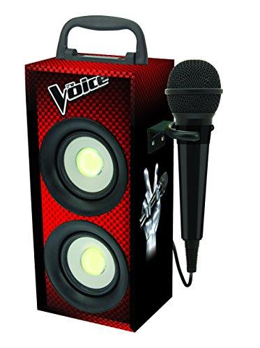 Lexibook The Voice Tragbare Karaoke mit Mikrofon,  4W RMS, LED-Licht, Aux-In-Buchse, Akku, rot/schwarz, BTP155TVZ