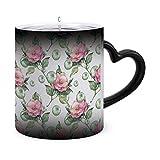 Tazze magiche per caffè sensibili al calore con motivo floreale ad acquerello - Tazza termica unica per caffè, tè e tazze da 11 once Idea regalo per mamma papà donna uomo modello 28340