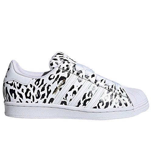 adidas Originals Womens Superstar Sneaker, Footwear White/Core Black/Gold Metallic, 40 2/3 EU