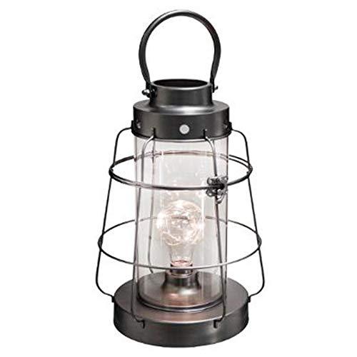 Paris Prix Atmosphera Créateur d'intérieur - Lanterne à LED en Métal Vintage Loft 30cm Noir