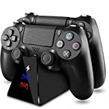 PS4 Controller Charger KINGTOP DualShock 4 Controller Charging Station Dock,Playstation 4 Charging Stand for Sony Playstation4 / PS4 / PS4 Slim / PS4 Pro Controller [Upgrade 2nd Generation]