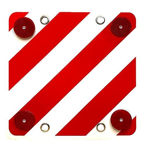 Panel Reflectante Señal Carga Sobresaliente con Ojales y Catadioptricos No Homologada 40 x 40 cm