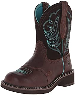 Ariat Women's Fatbaby Leather Western Boots, Royal Chocolate/Fudge, 9.5