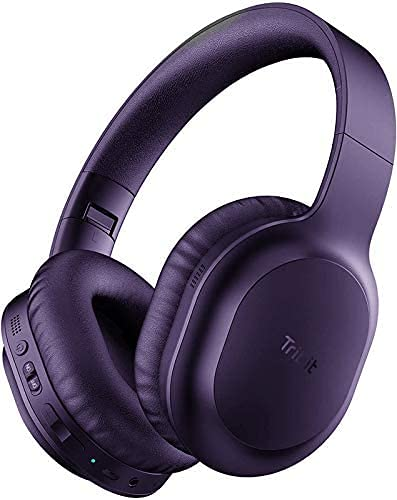 Auriculares Bluetooth Tribit XFree Tune inalámbricos de diadema con HiFi, Rich Bass, 24 horas de funcionamiento, controladores 2X40mm, Bluetooth 4.1, Chip CRS, soporta conexión 3.5mm Aux