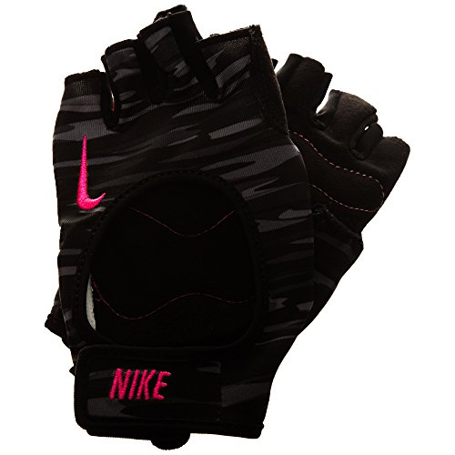 Nike Erwachsene Fit Training Handschuhe, Anthracite/Black/Hyper pink, M