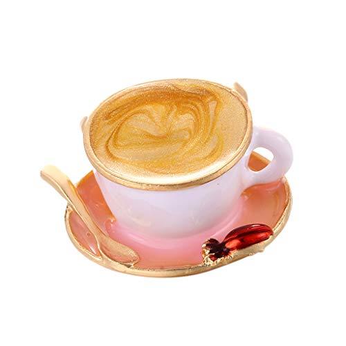 Fenteer Mehrfarbig Kaffee Espresso Form Brosche für Arbeit oder tägliche Kleidung verschönern Zubehör
