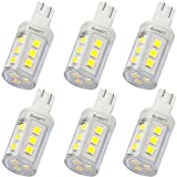 LeMeng 3W T10 Wedge Base RV 921 LED Light Bulb 12VAC/DC Landscape Garden Patio Path Driveway Malibu, RV Camper Trailer Motorhome Marine Boat Dome Fixture Lighting(6000K Daylight White)-6 Pack