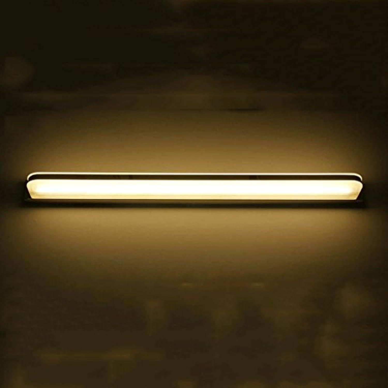 QZz Home Wasserdicht Nebel führte Led Spiegel Licht Modern Einfache LED Wandleuchte Acryl Schlafzimmer Bad WC Make-up Lampe Wandleuchte (Farbe   Warmwei-9w 42cm)