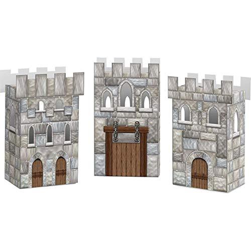 Medieval Castle Favor Boxes (Set Of 3) - Party Supplies