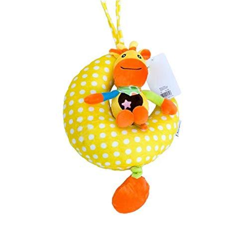 Nicedier Luna bebé Que cuelga Viento Bell-up Musical Animal Relleno Cochecito Cuna Colgantes Campana de Peluche de Juguete de Regalo 1pc pequeños Juguetes Modelo de la Vaca