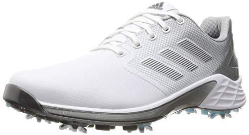 adidas ZG 21, Scarpe da Golf Uomo, Bianco, Grigio e Argento, 44 2/3 EU