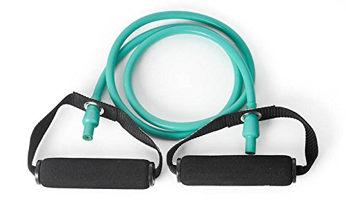 DITTMANN Body Tube Deluxe Fitnessband Expander grün/mittel Schaumstoffgriff