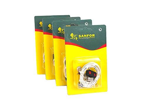 Sanfor Paquete 4 Blíster kit eléctrico para manualidades, PLATEADO/BLANCO, Talla única