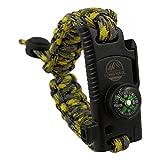 LONG HAUL | 5-in-1 Adjustable ParaKnife Survival Bracelet with a Fire Starter, Compass