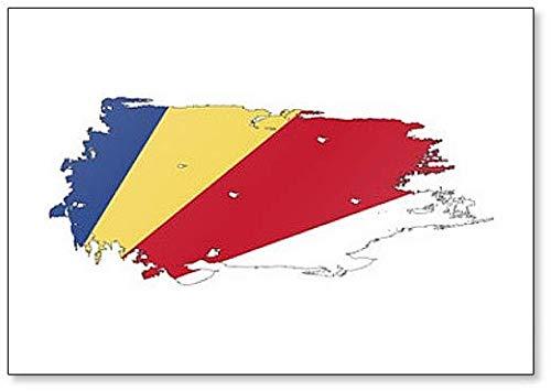 Kühlschrankmagnet Seychellen-Flagge Grunge Brush Style