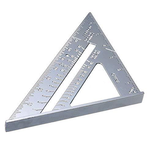 Regla Cuadrada de Aleación de Aluminio de 7 Pulgadas, ángulo de Parada en Pulgadas, Medición de Alta Precisión Del Transportador, Herramienta de Medición de Alta Precisión para Carpintero Ingeniero