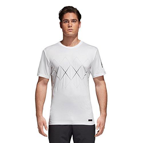 adidas Camiseta Barricade para Hombre, Color Blanco, XS