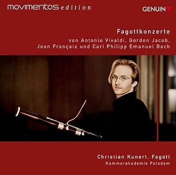 Vivaldi, Jacob, Françaix & C.P.E. Bach: Bassoon Concertos (Movimentos Edition)