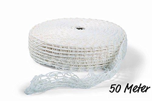 Rollbratennetz Bratennetz Einziehnetz 50 Meter Rolle weiß (Durchmesser 120 mm)