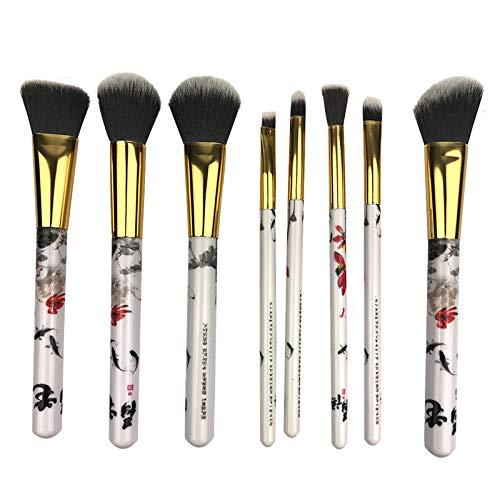 HUJBFTY Professionnel 8 Pcs/Ensembles Maquillage Pinceau Fibre Cheveux Brosses Style Chinois Ombre À Paupières Correcteur Pinceau Sourcils Comestic Outil