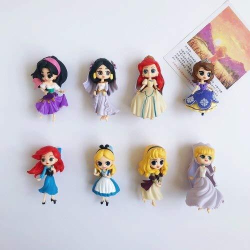 8 Piezas de Dibujos Animados de Disney imán de Nevera Blancanieves Princesa imán de Nevera decoración del hogar Decoraciones Nevera