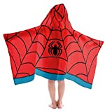 Jay Franco Kids Hooded Towel Avengers - Spiderman Red