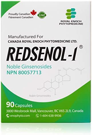 Redsenol – Contain 16 Rare Ginsenosides: Rk2 Rg5 Rh2 Rk1 Rk3 – Panax Ginseng Extract, 20% Rare Ginsenosides – 3 Boxes x 90 Capsules