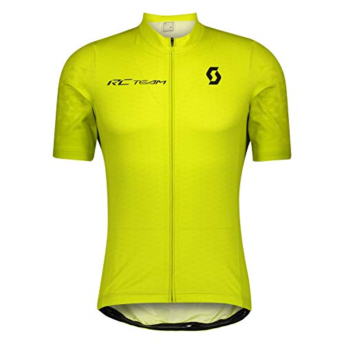 SCOTT Maillot RC Team 10 S/SL, Hombres, Sulphur Yellow/Black, XXL (58)