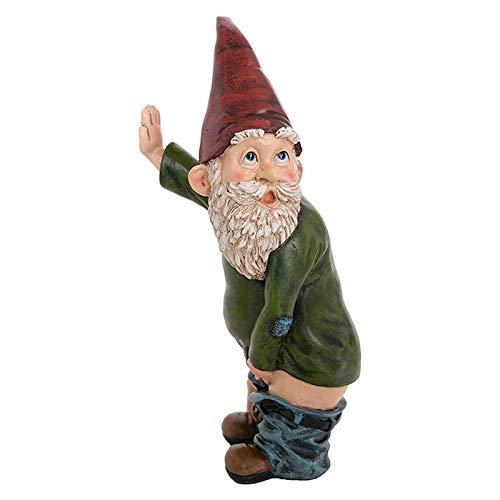 lefeindgdi Pinkelnder Zwerg, frecher Gartenzwerg für Rasen-Ornamente, Innen- oder Außendekoration