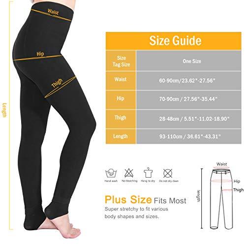 Leggings Mujer, Aiglam Leggings Térmicos Mujer Con Talla Extra Forro Polar Grueso, Leggins Cintura Alta Pantalones Mallas Invierno (Negro)