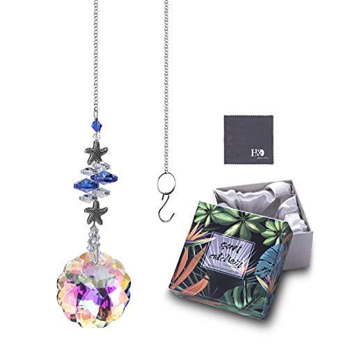 H&D HYALINE & DORA Kristall Mandala Prismen Sonnenfänger Hängende Verzierung Regenbogen-Hersteller für Haus,Gartendekoration