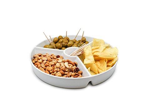 NERTHUS FIH 333 Snack-Teller, Porzellan, Weiß, 19.5x 19.5x 3.5cm