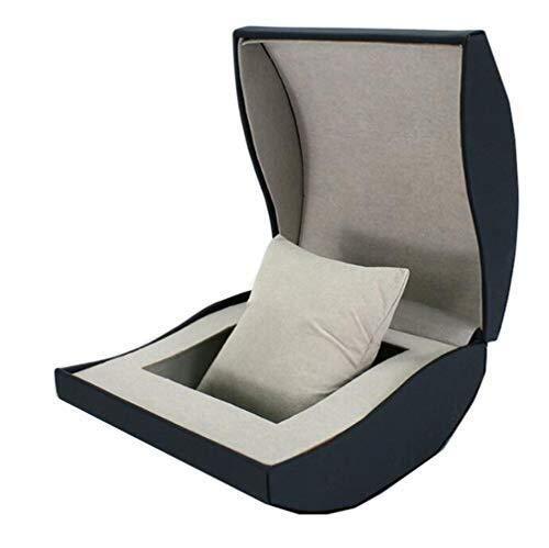 LKAIBIN Caja de almacenamiento de relojes caja de reloj caja de almacenamiento de reloj de una sola rejilla para hombre, caja de regalo