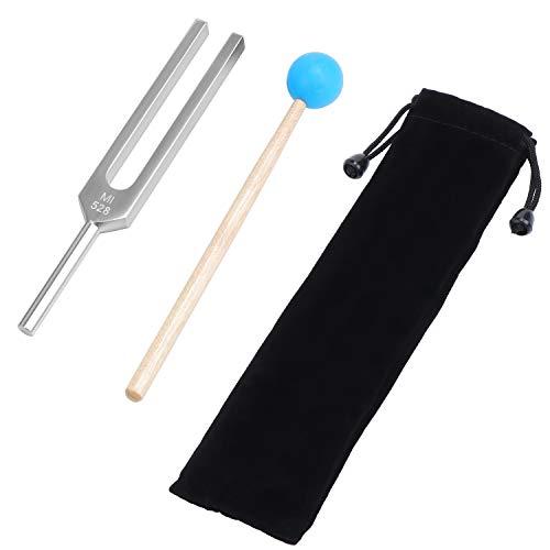 Fippy 528MI Stimmgabel Aluminium Medizinische Stimmgabel Chakra Hammer Ball Diagnostic Medizinische Instrumente Klangtherapie-Tool Set