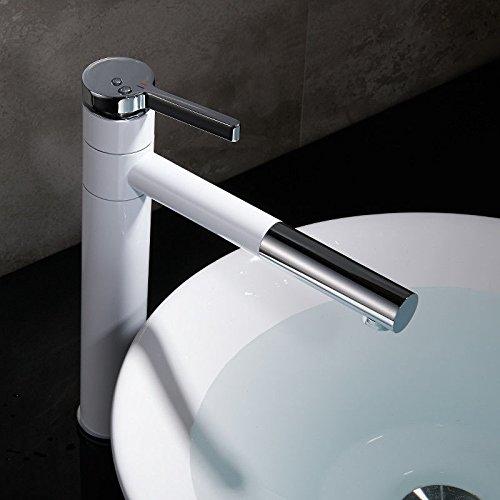 Lvsede badkamer waterkraan design keukenkraan lage druk ronde kraan, de eengat eenhandskoper-verlengstuk hoogwit van de hete en koude handgreep verhoogt
