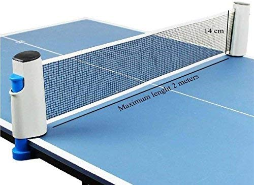 TIMA 1102 Adjustable Table Tennis net with Push Clamps Portable and fits Most Tables, Grey