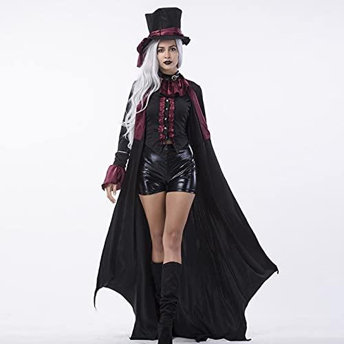 Soglen Disfraces de vampiro para adultos, disfraces de vampiro, ropa de pareja para hombre y mujer, Halloween, Navidad, día de regreso a casa, fiesta de disfraces, juego de rol, mujer, XL