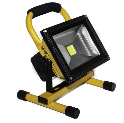 20 W gele LED accu-schijnwerper, oplaadbaar, buitenverlichting, schijnwerper, schijnwerper