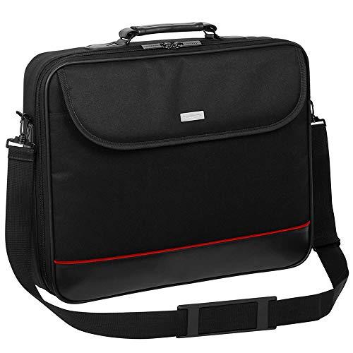 Laptop Tasche passend für Medion Akoya E15302 |15.6 Notebook Hülle Umhängetasche Aktentasche mit verstärkten Schutzrahmen | HQ Schwarz