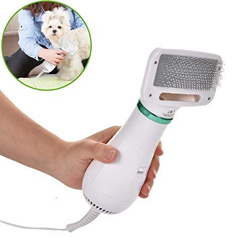 2 en 1 Secador de pelo del animal doméstico Secador de la preparación del perro del impermeable profesional del ventilador Cepillo for Mediana Grande gato pequeño perro, secador de pelo y estética por