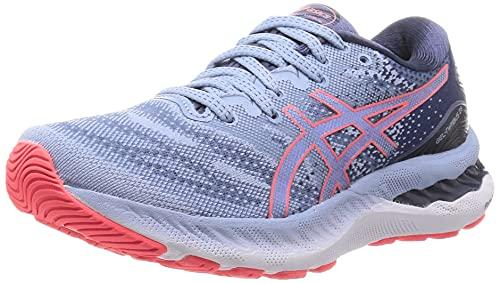 ASICS Gel-Nimbus 23, Chaussures de Course de Route. Femme, Mist Blazing Coral, 41.5 EU