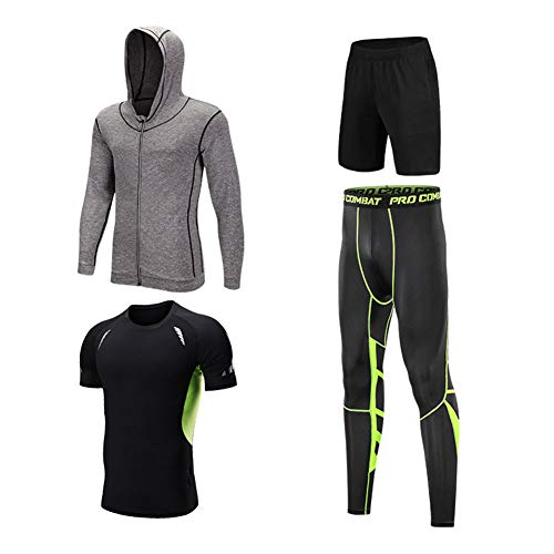 Casual trainingspak voor heren met lange mouwen, joggingpakken met atletische joggingpakken met volledige ritssluiting,4,XXL