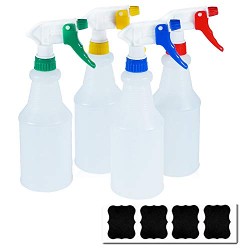 Cosywell Plastic Spray Bottles 750ml Heavy Duty Spraying Bottle Leak Proof Mist Water Bottle for Chemical and Cleaning Solutions All-Purpose Adjustable Head Sprayer (4color)