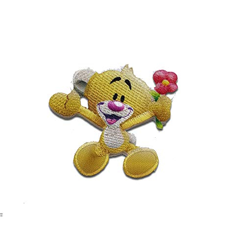 Aufnäher/Bügelbild - Diddl Maus Freund Pimboli Cartoon - gelb - 5,5x5,7cm - Patch Aufbügler Applikationen zum aufbügeln Applikation Patches Flicken