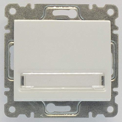 Defne Klingeltaster mit beleuchtetem Namensschild, VDE Zertifiziert, Unterputz mit Steckklemme, in weiß