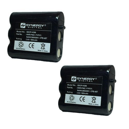Synergy Digital Cordless Phone Battery Combo-Pack Compatible For Radio Shack 23-932 Cordless Phone includes: 2 x BATT-511 Batteries