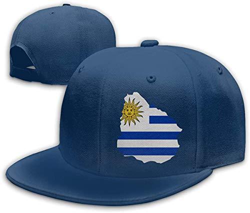 Heobe Uruguay Map Men/Women Fashion Adjustable Baseball Cap Snapback Plain Cap,Navy,One Size